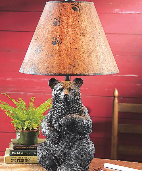 Bear Rustic Table Lamp