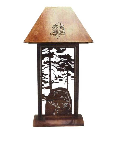 Rustic Bear Table Lamp