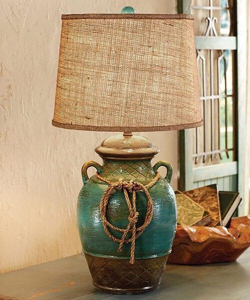 Turquoise Southwestern Lamp