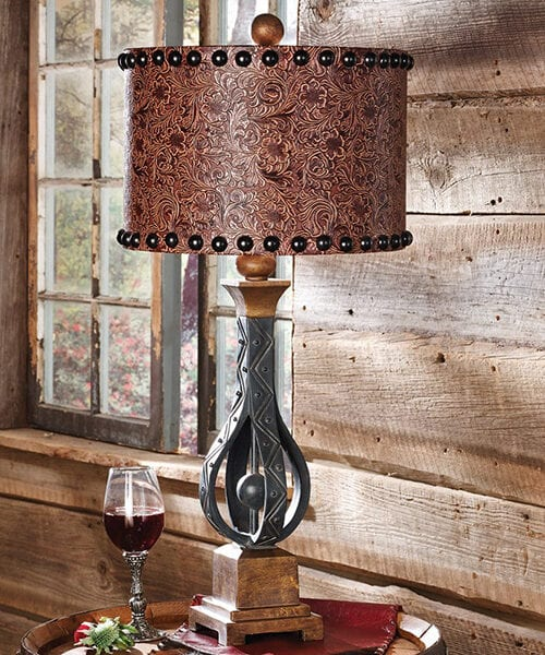 Sheridan Western Iron Table Lamp