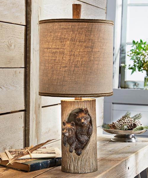 Rustic Lodge Lamp