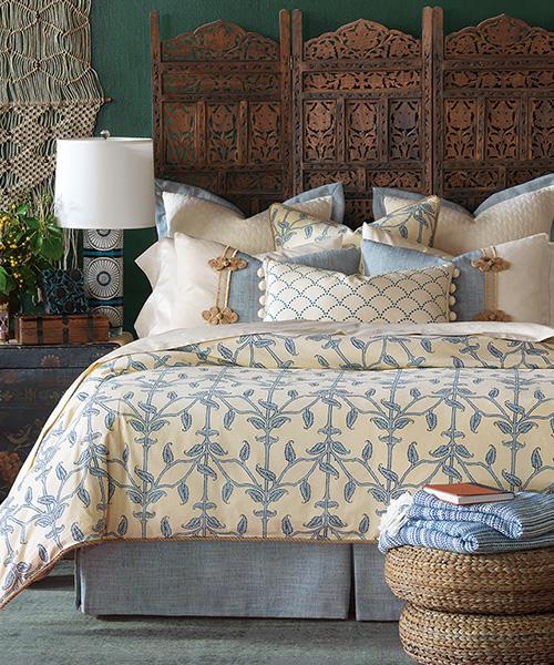 Luxury Blue Bedding | Eastern Accents Badu Bedding