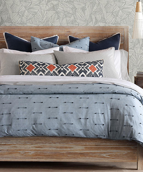 Luxury Blue Bedding | Eastern Accents Lodi Bedding