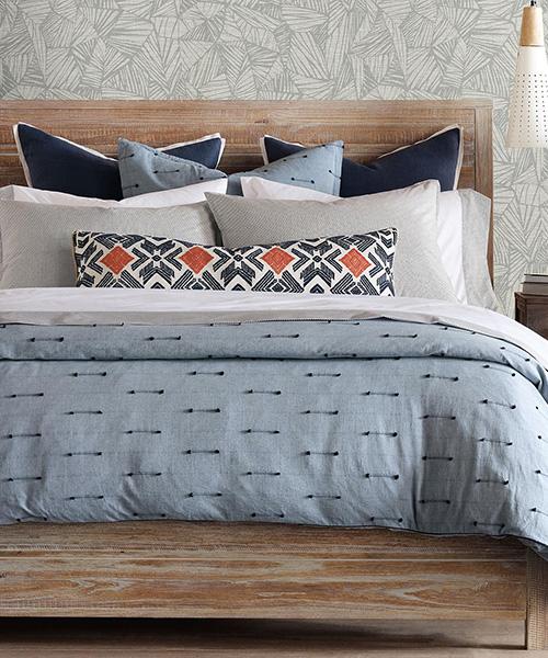 Luxury Blue Bedding   Eastern Accents Lodi Bedding