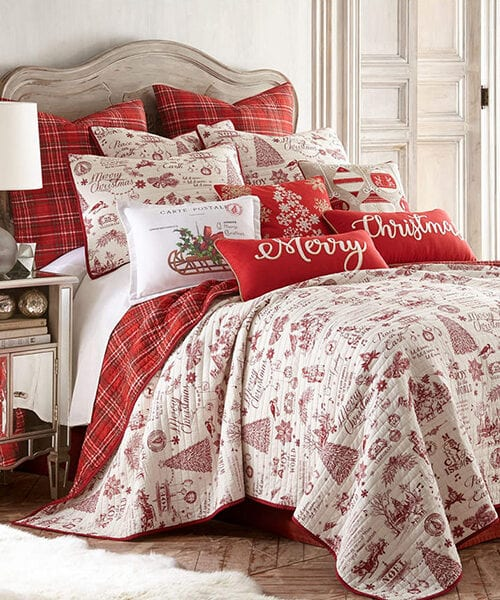 Levtex Home Yuletide Christmas Bedding Quilt