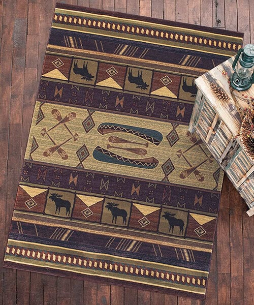 Moose Creek Log Cabin Rug