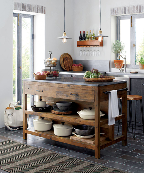 Reclaimed Wood Kitchen Island | Rustic Kitchen