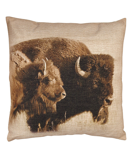 Burlap Cowboy Pillow