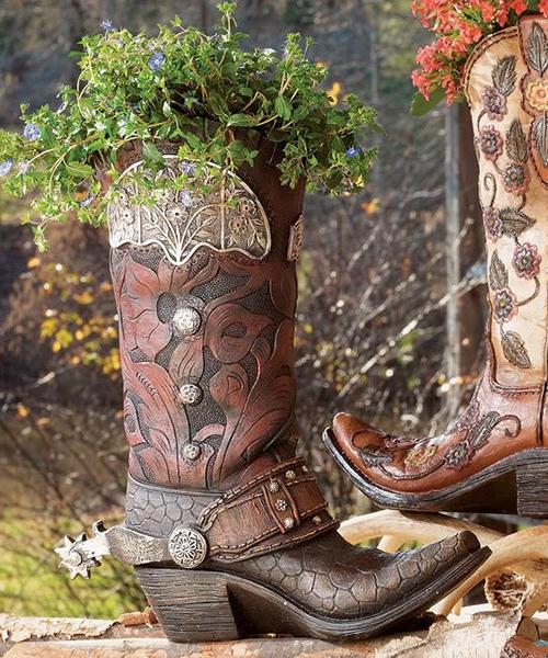 Cowboy Boot Vases