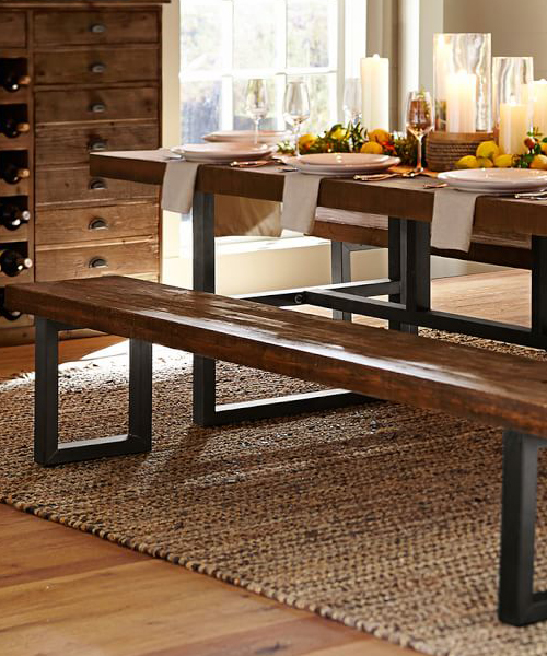 Reclaimed Wood Rustic Dining Bench