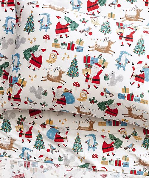 Santa Bedding Set   Kids Woodland Christmas Bedding