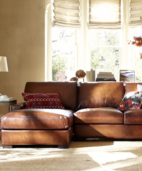 Leather Chaise Sectional