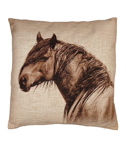 Mustang Burlap Pillow