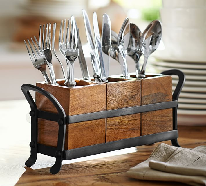 Vintage Blacksmith Flatware Stand