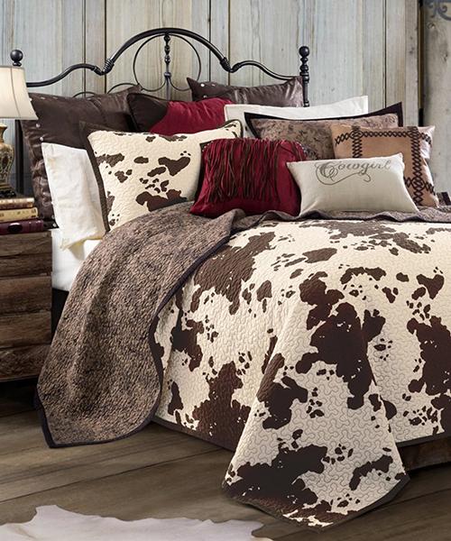 HiEnd Accents Elsa Cowhide Print Bedding