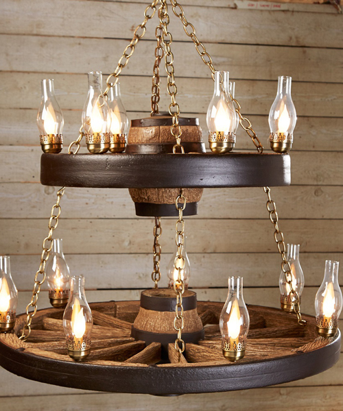 Double Wagon Chandelier