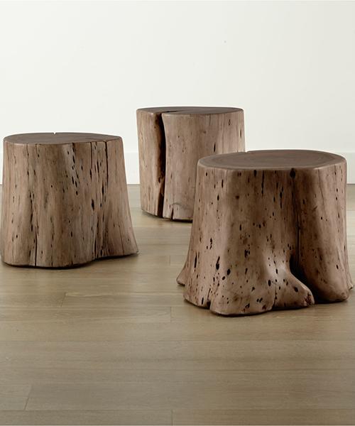 Rustic Wood Stump Table