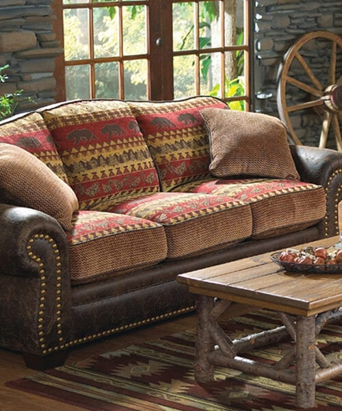 Bear Creek Rustic Sofa