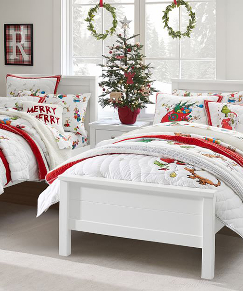 Grinch Kids Christmas Bedding
