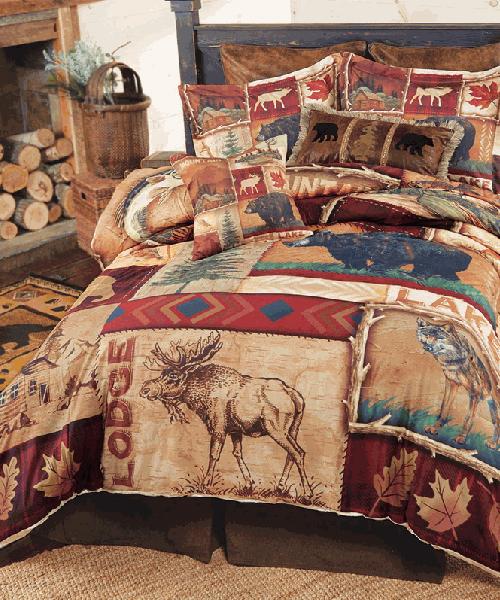 Highland Hills Lodge Bedding Canadian Log Homes