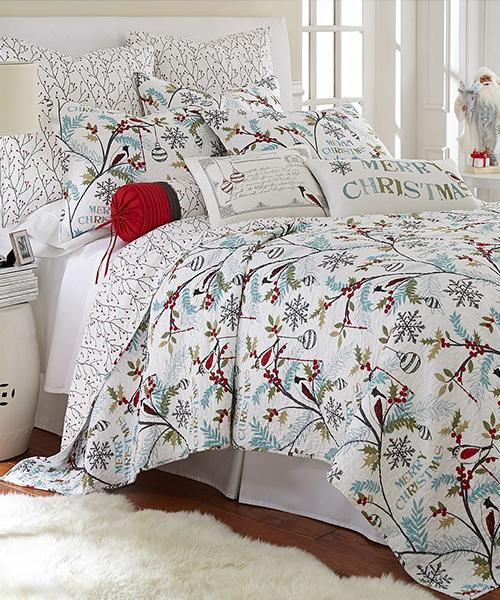 Mistletoe Merry Christmas Bedding