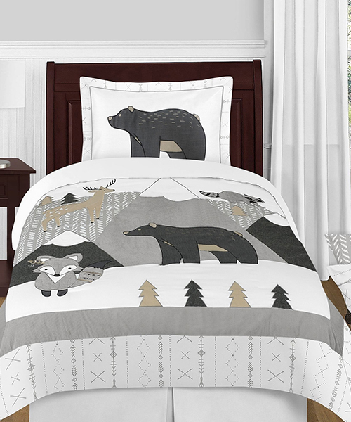 Kid's Rustic Woodland Bedding