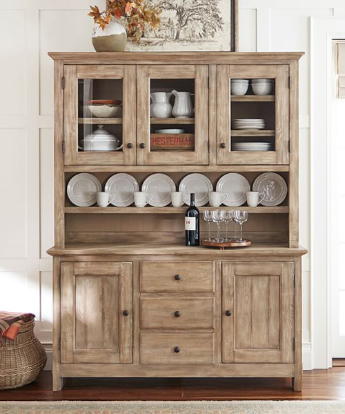 Benchwright Rustic Buffer & Hutch