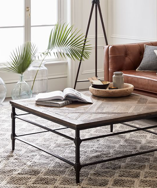 Square Reclaimed Wood Coffee Table | Reclaimed Wood Furniture