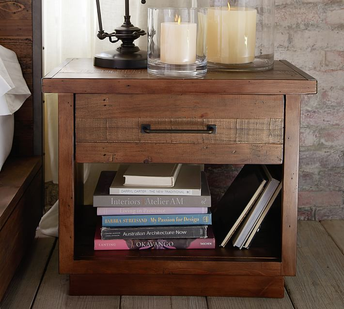Antiqued Reclaimed Wood Nightstand