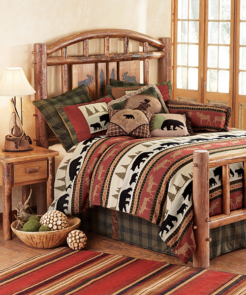 Aspen Creek Log Cabin Bed