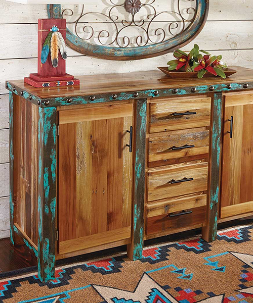 Azul Barnwood Buffet/Cabinet | Western Dining Room Furniture