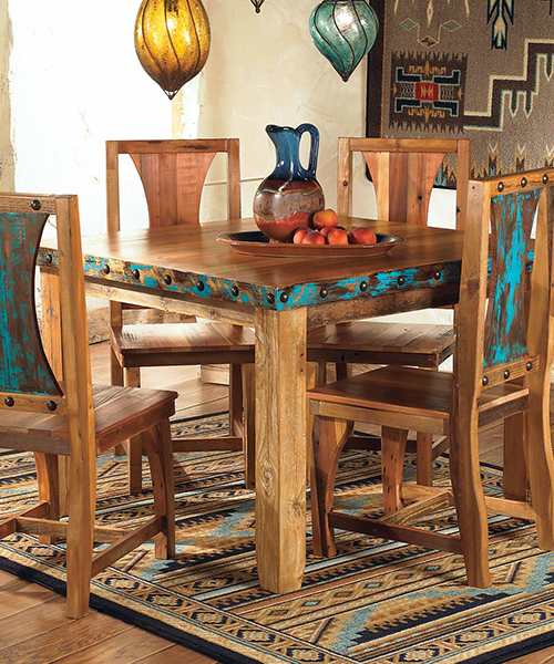 Azul Barnwood Table & Chairs | Western Dining Room Furniture