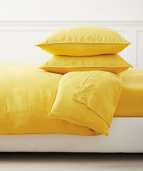 Positano Yellow Linen Bedding