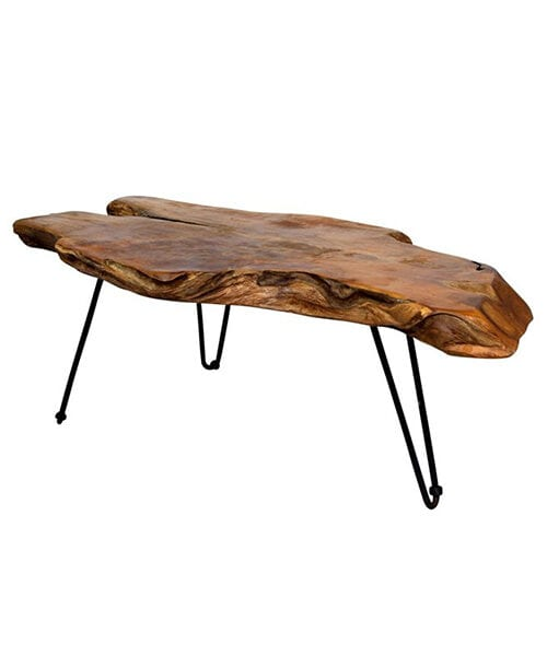 Badang Carving Natural Teak Coffee Table | Teak Tables