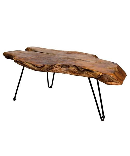 Badang Carving Natural Teak Coffee Table | Teak Tables