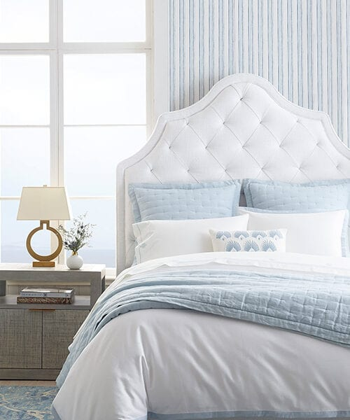 Border Frame Blue and White Duvet Cover