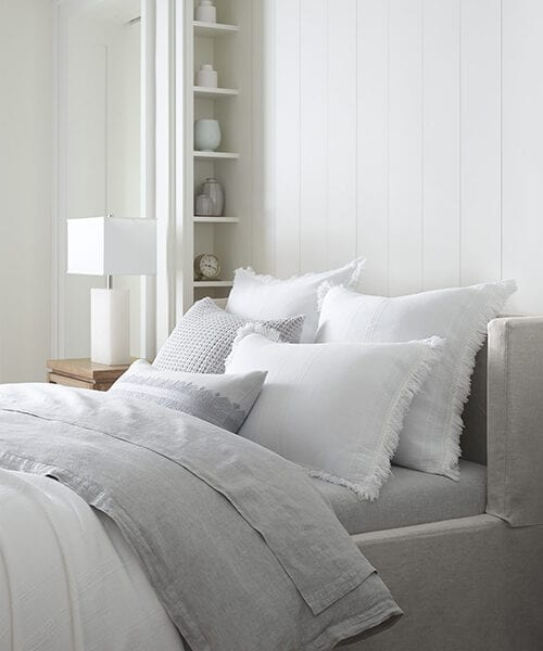 Cavallo Gray Duvet Cover | White & Gray Bedding