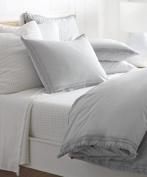 Fog Gray Bedding | Solana Duvet Cover in Gray