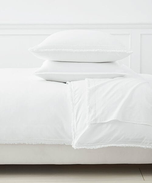 Solana White Duvet Cover | White Bedding