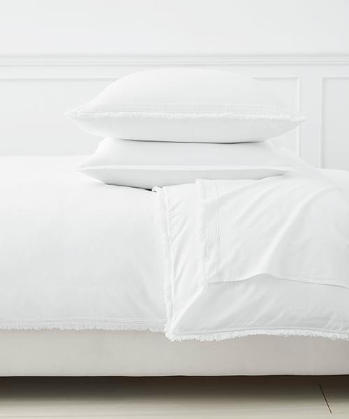Solana White Duvet Cover | White Bedding