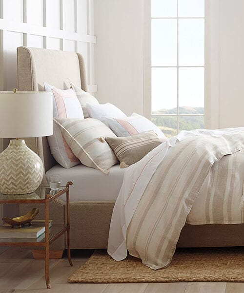 Neutral Striped Duvet Cover