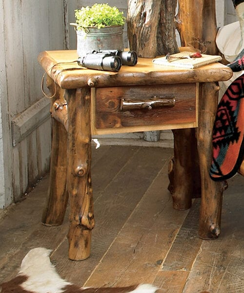 Aspen Creek Log Cabin Nightstand