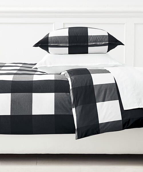 Black and White Gingham Bedding | Black and White Bedding