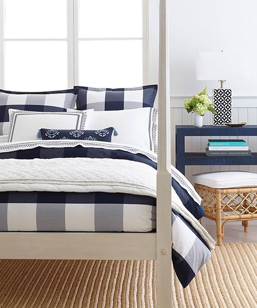 Navy Blue Gingham Bedding   Gingham Duvet Covers
