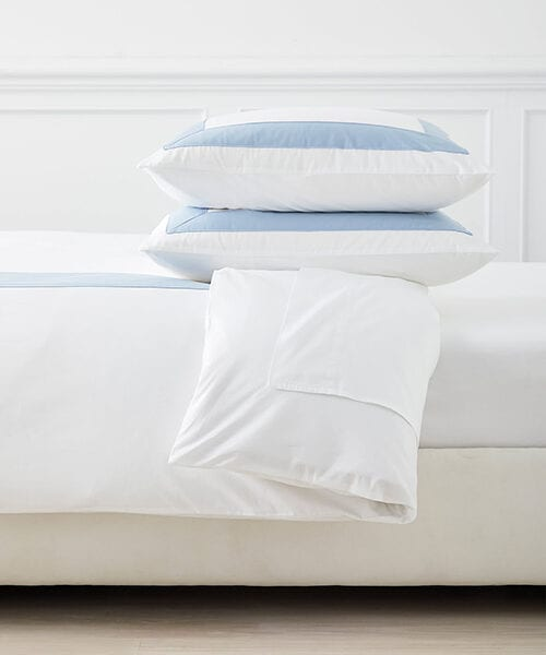 Blue Border Duvet Cover