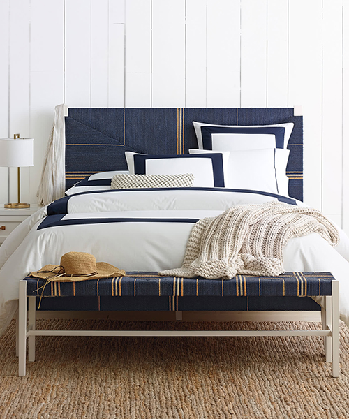 Navy Tailored Duvet Cover | Classic Tailored Bedding
