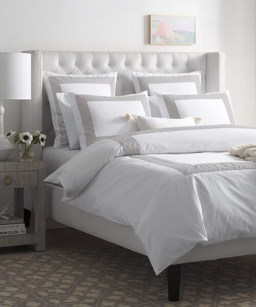 Gray Border Duvet Bedding | Hotel Bedding Collection