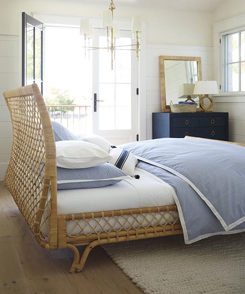 Oxford Stripe Duvet Cover   Blue & White Stripe Coastal Bedding