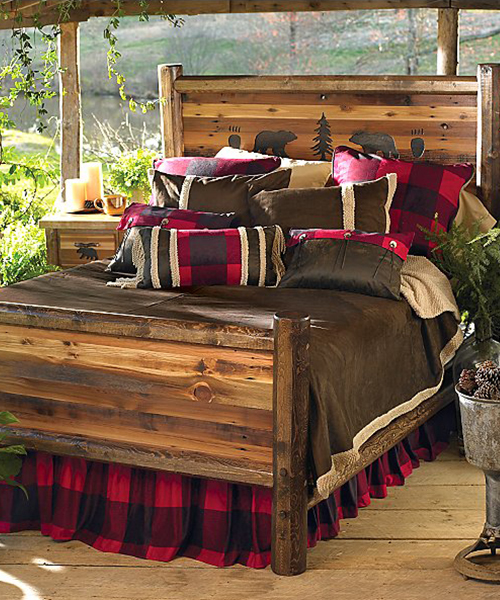 Rustic Wildlife Bed