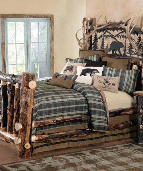 Aspen Log & Antler Bed